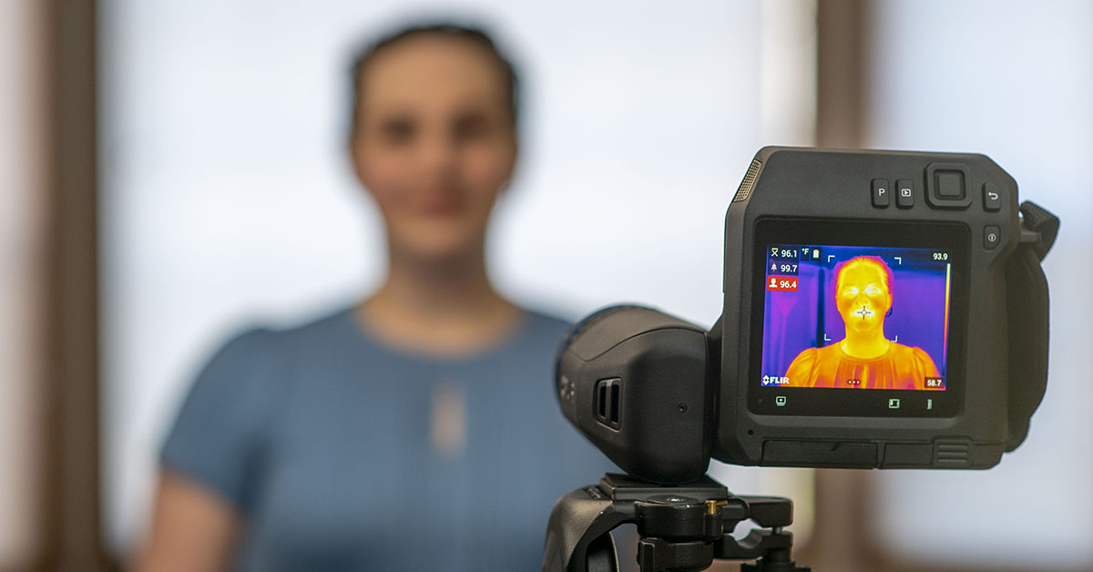 #FLIR thermal cameras are being used in public spaces—such as airports, businesses, factories, and more—as an effective tool to measure skin surface temperature and identify individuals with Elevated Body Temperature. Read more about this application: https://bit.ly/33MzCjO