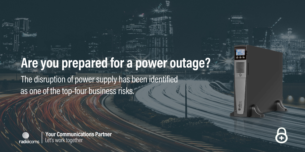 Protect your organisation from the risk of operational implications during a #poweroutage. Consider #uninterruptiblepowersupplies for business continuity> http://bit.ly/3bT4MJR   #Batterybackup #UPSBatteries #UPSMaintenance  #riskmanagement #yourcommunicationspartnerpic.twitter.com/qIj3YtLnBz