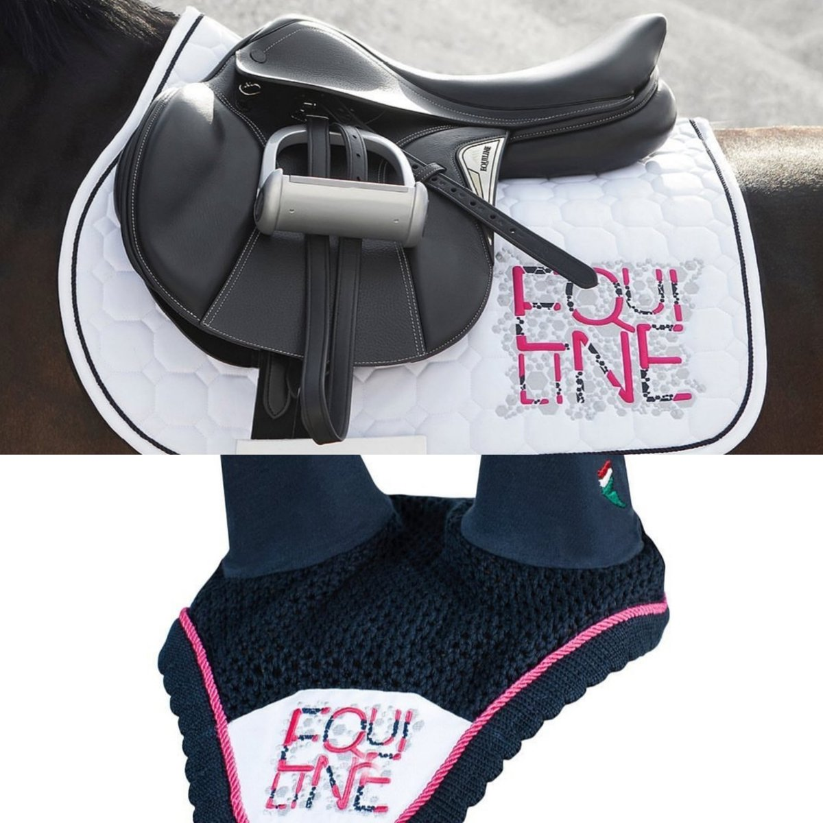 Let's concentrate on good news today at DE and this combination from #Equiline has brought a huge smile to our faces! #Marghe jumping saddle with the #Cupid saddlepad and matching earnet is available now! Fresh and gorgeous - just what we need to lift our spirits pic.twitter.com/uo7aITHNlt