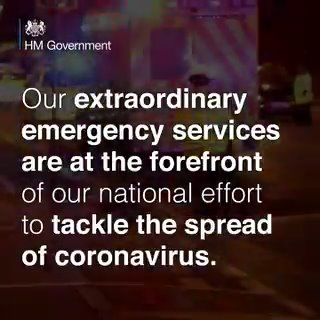 Thank you to our fantastic emergency services. #StayHomeSaveLives #COVID19 #Coronavirus