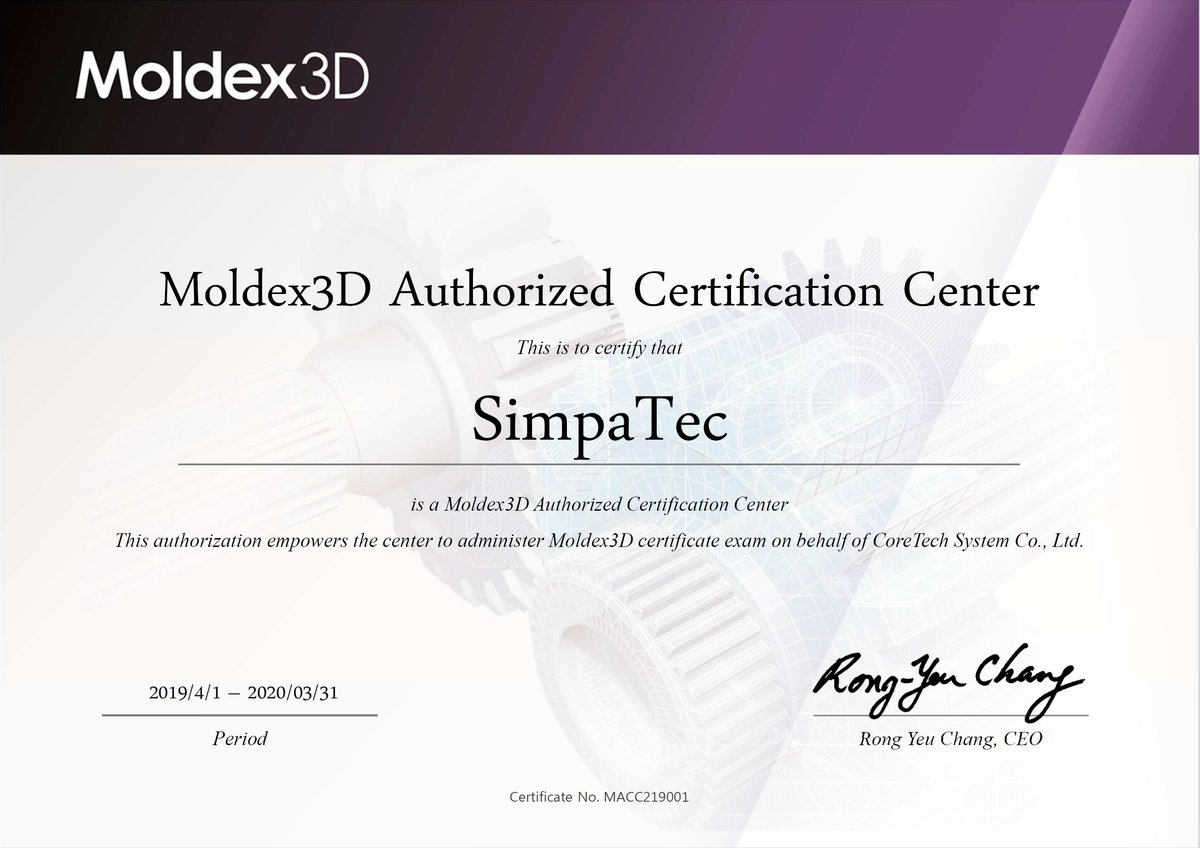Beyond just being a #Moldex3D user. Get certificated. We offer the analyst as well as the expert course online.  Take the opportunity and be a part of it. The language will be English.  https://buff.ly/3bp8IRC  #simulation #injectionmolding #engineering @Moldex3DGlobal #SimpaTec pic.twitter.com/bBSDqvO6PM