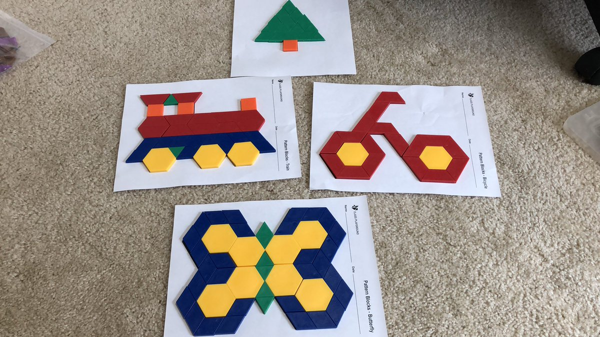 Breaking out the manipulatives to keep my son entertained!