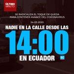 Image for the Tweet beginning: #URGENTE   Desde mañana el
