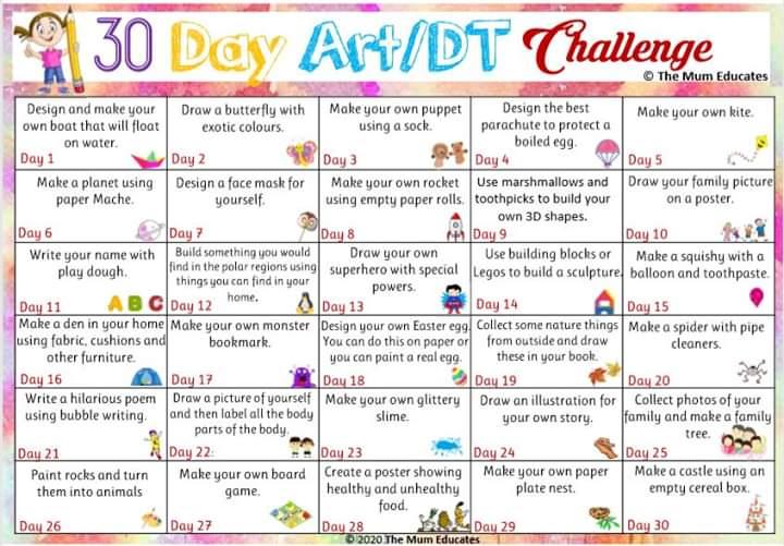 Image result for 30 day art dt challenge