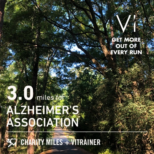 Good to back in the 'hood. #wfh break! 3.0 @CharityMiles for @alzassociation. Thx @Vi_Trainer for sponsoring me!