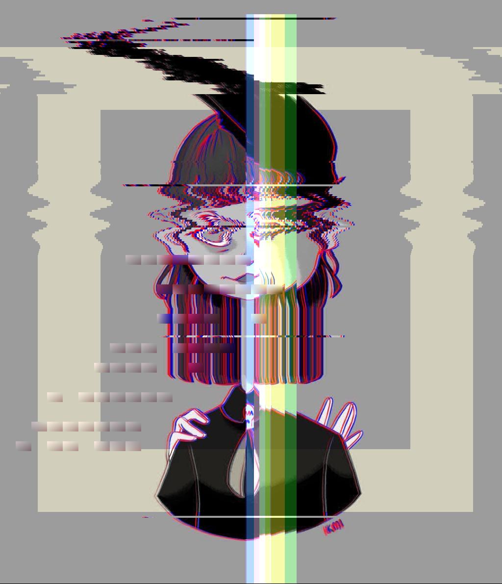🙂💫 glitch crow dtiysmz09 dtiys girl nodejs scatter generative color bot Origin img by @kmi_ink