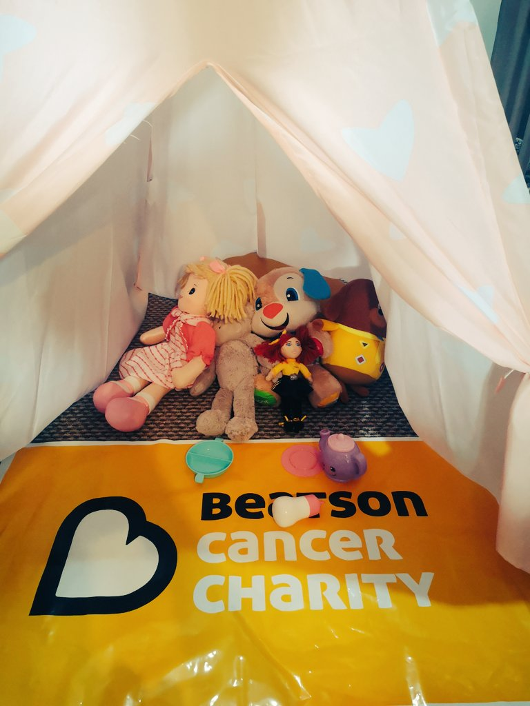 Having a Beatson Tea Party in our own Fort Beatson! We are keeping busy! What about you? @Beatson_Charity #teambeatson #workingfromhome #todler #fundraising