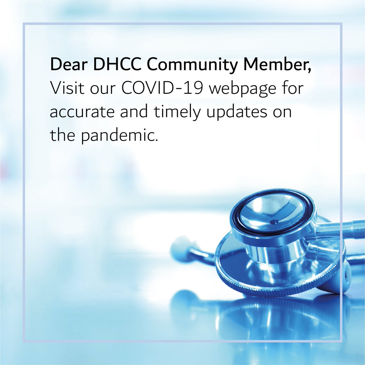 To support our community members in accessing accurate and timely information and policy updates on the evolving COVID-19 pandemic, DHCA has set up a specialized webpage.  Please click the link: https://lnkd.in/fTs7vY4  #DHCC #Communityofchoice #covid_19 #corona #stayinformedpic.twitter.com/dUjyAwhtRy
