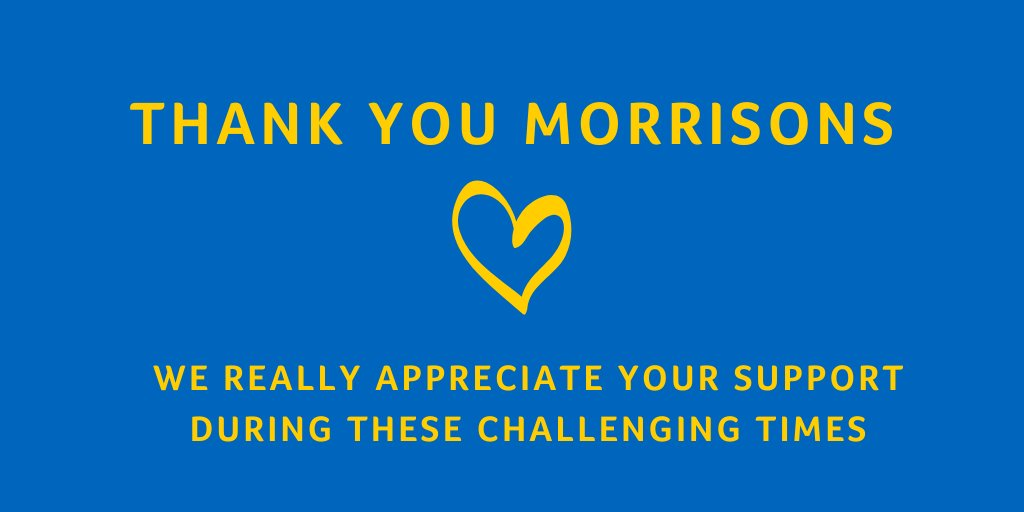 Thank you to @Morrisons who are welcoming workers from our charity shops - whose doors are closing due to Coronavirus - to help support elderly and vulnerable customers in their stores 💛💚