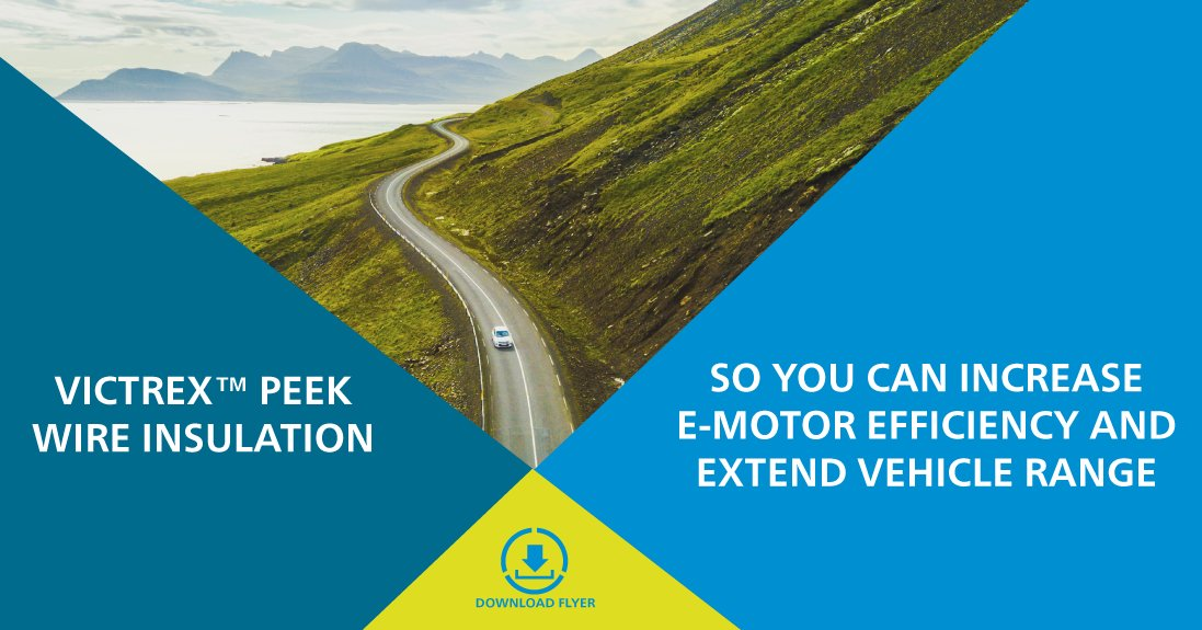 Wire insulation is playing a key role in #emotor efficiency. If you want to know how #PEEK wire coating can enhance #efficiency and even extend #vehiclerange, download our flyer now and contact us directly to explore how we can support your projects! http://bit.ly/Vx_WIF #EVpic.twitter.com/lNTu0arNgd