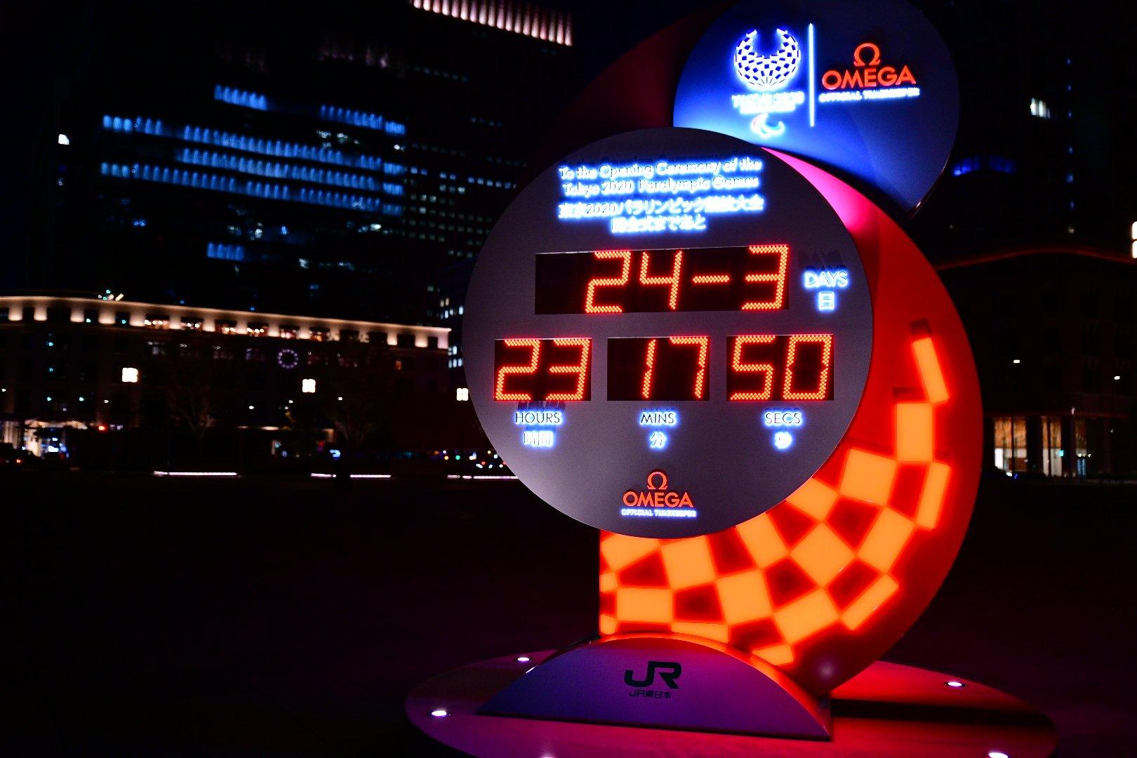 そういや東京駅前の東京オリンピック開会式カウントダウン時計はどうなったんだろうと見に行ったら、カウントダウンが中止されて、普通に今現在の時を刻む時計になっていた