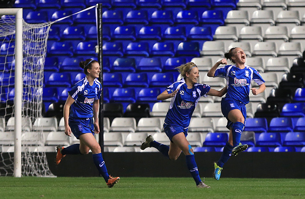 On this day in 2014⏪  @remi_allen's goal gave @BCFCwomen a 1-0 win against @ArsenalWFC at St Andrew's on their way to the #UWCL semi-finals⚽🎉🎉🎉🎉