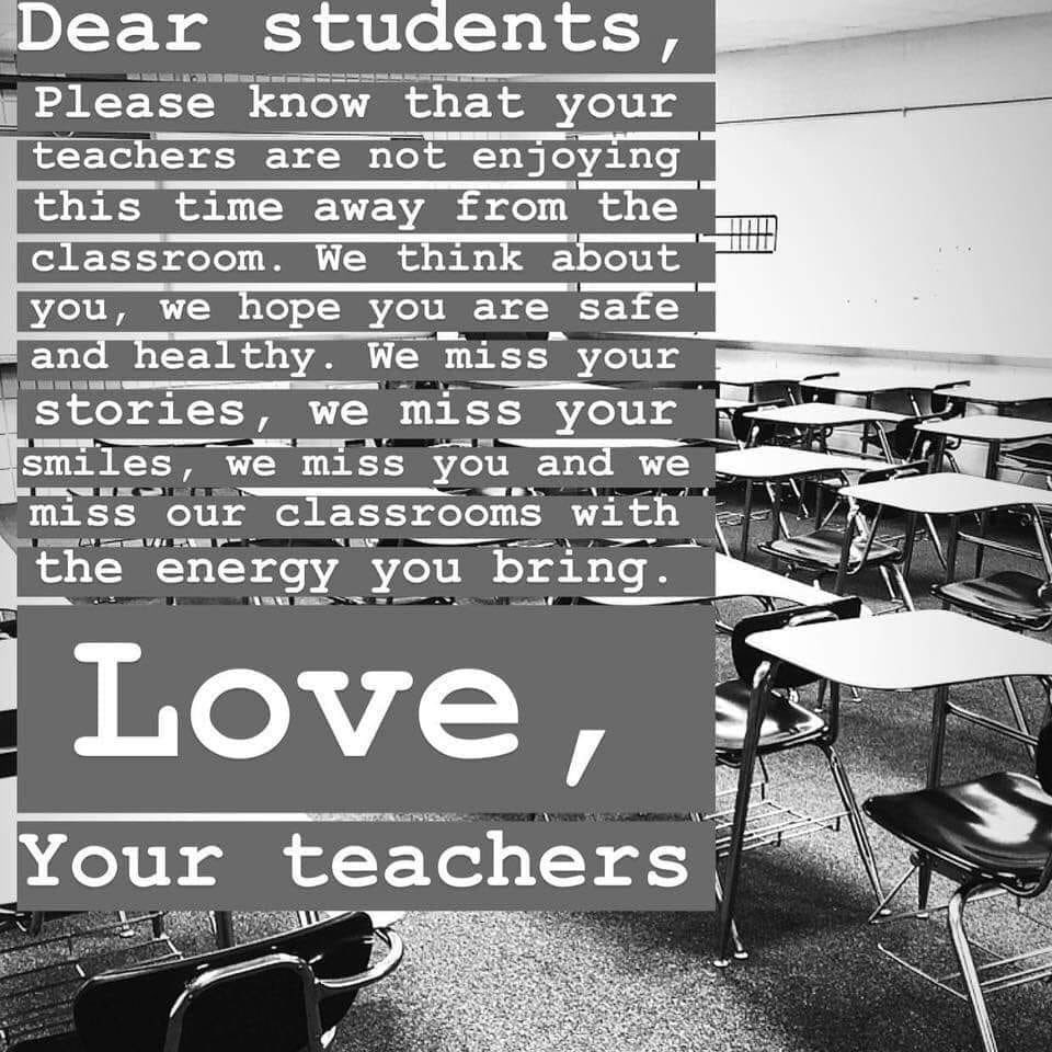 We definitely miss all of our Rocky Fork students!! #boltup #cantwaittoseeyou ❤️❤️⚡️⚡️