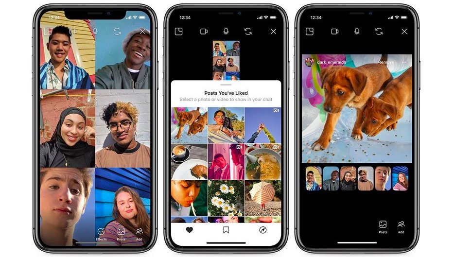 Now you can look at Instagram posts with friends while practicing social distancing