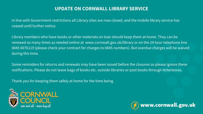 Update on Cornwall Library Service