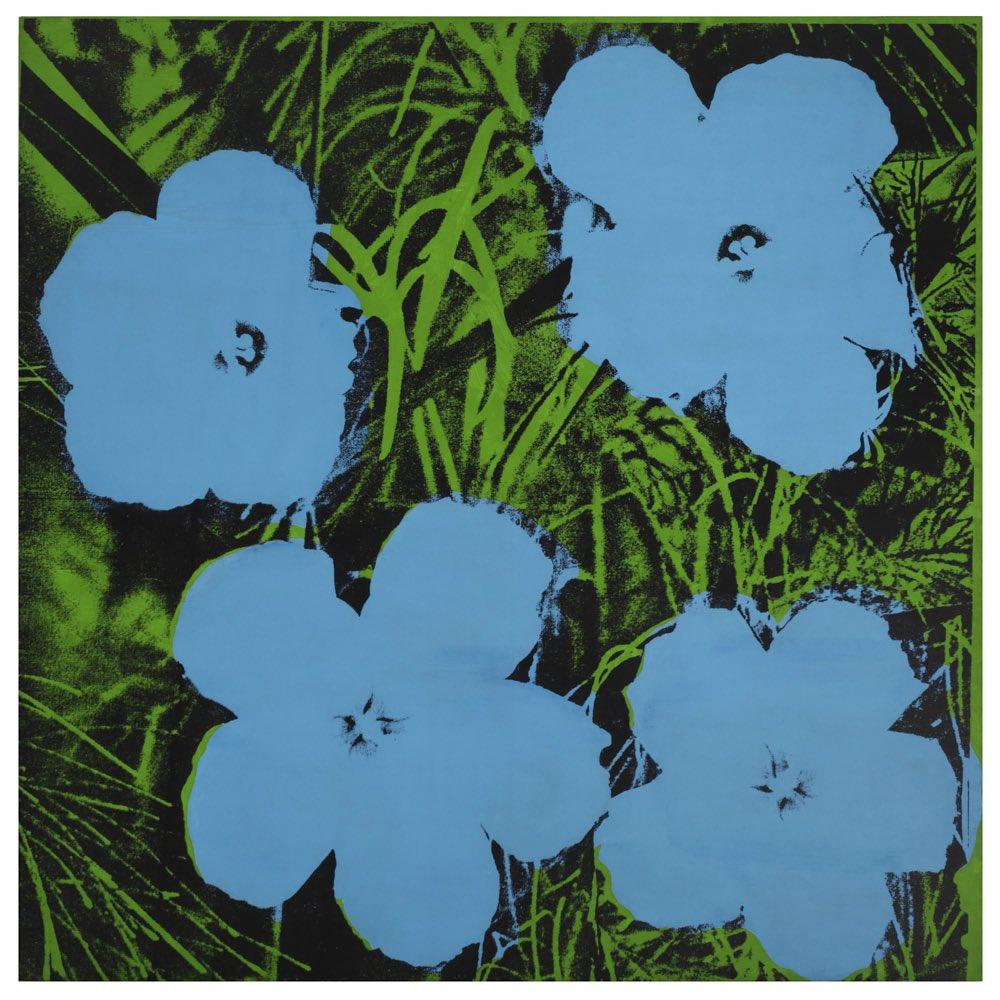 An art print featuring four flowers