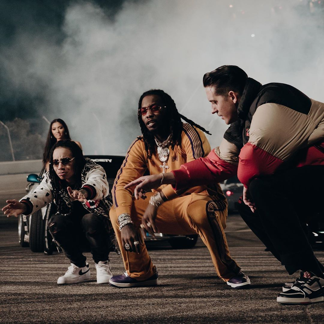 Two-seater, ridin' with @YBNNahmir, @OffsetYRN and @G_Eazy. 🚗