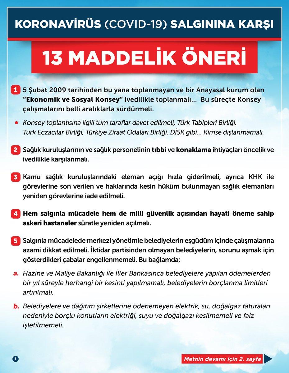 Koronavirüs (COVID-19) salgınına karşı 13 maddelik öneri #BirlikteBaşaracağız #YarınlarBizim #EvdeKalTürkiye