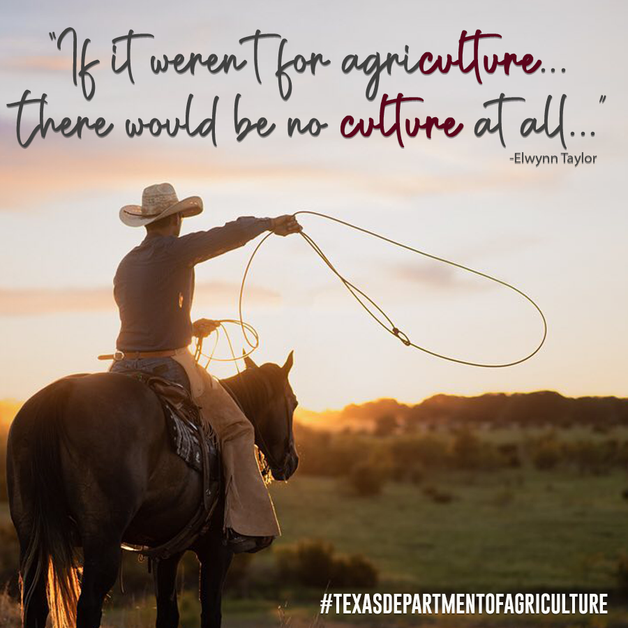 We owe it all to agriculture #NationalAgricultureDay