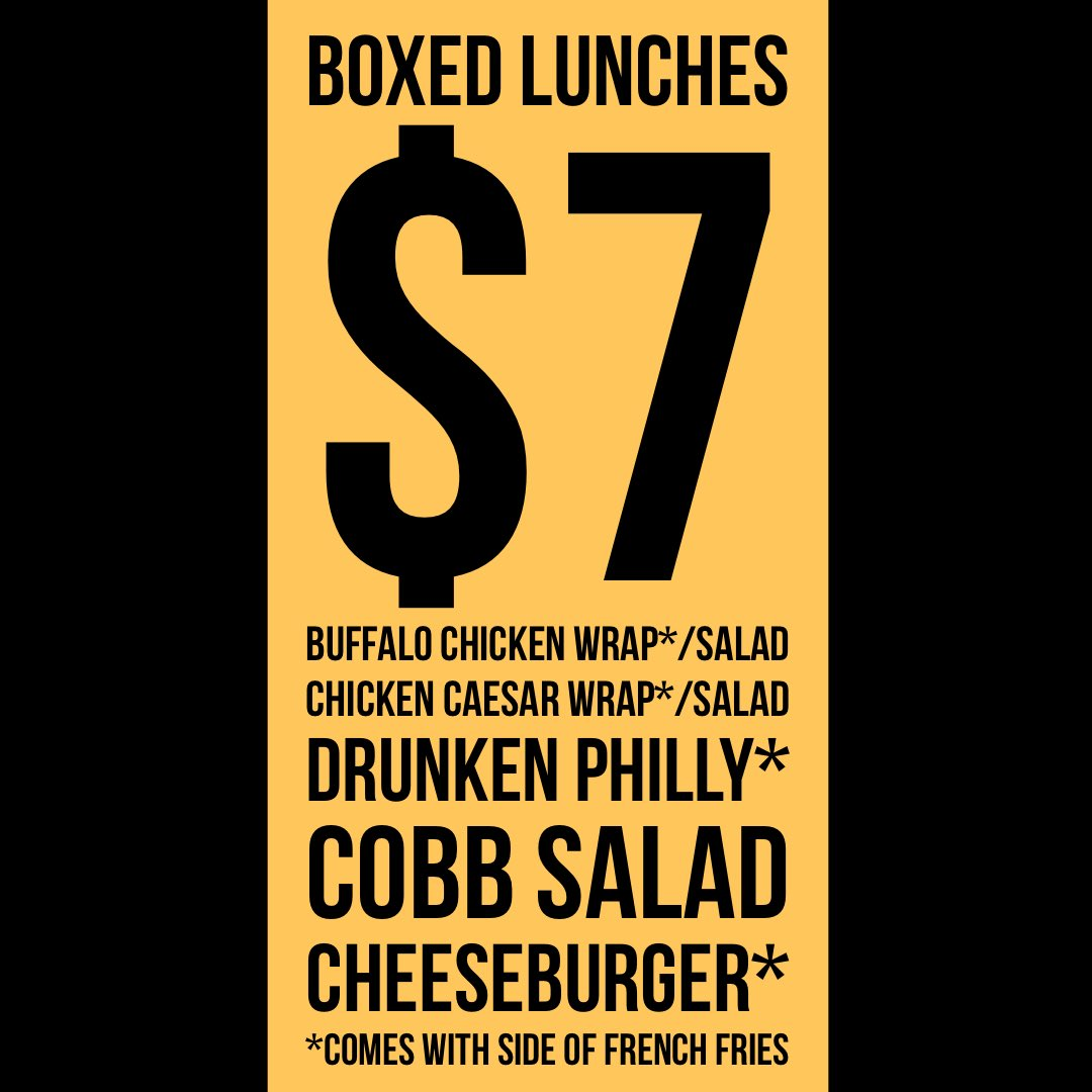 🚨 $7 boxed lunches !