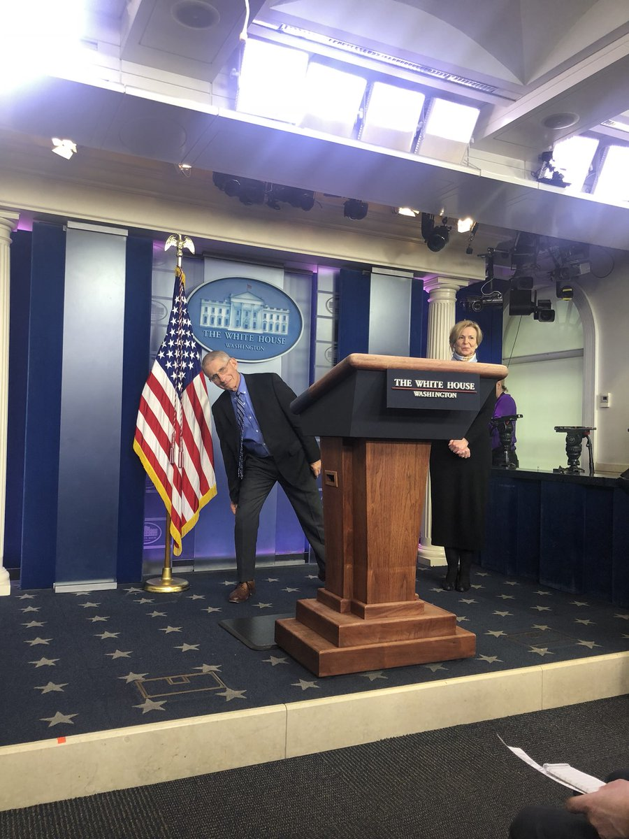 Dr. Fauci is back in the briefing room.