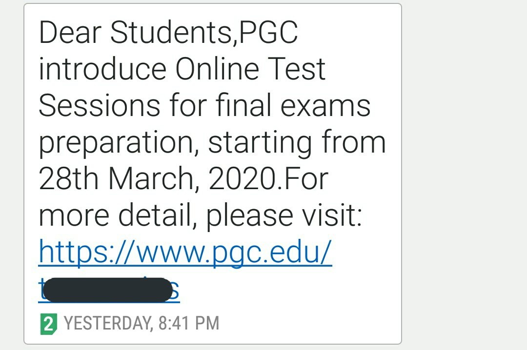 Yaar yay PGC walon nay Online Test Session start krliya nahi mtlb kya kuch bhi karain gaye yay#PGC #PunjabGroupOfColleges #PunjabCollege pic.twitter.com/0slBnYpUiS