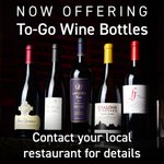 Image for the Tweet beginning: Now Offering To-Go Wine by