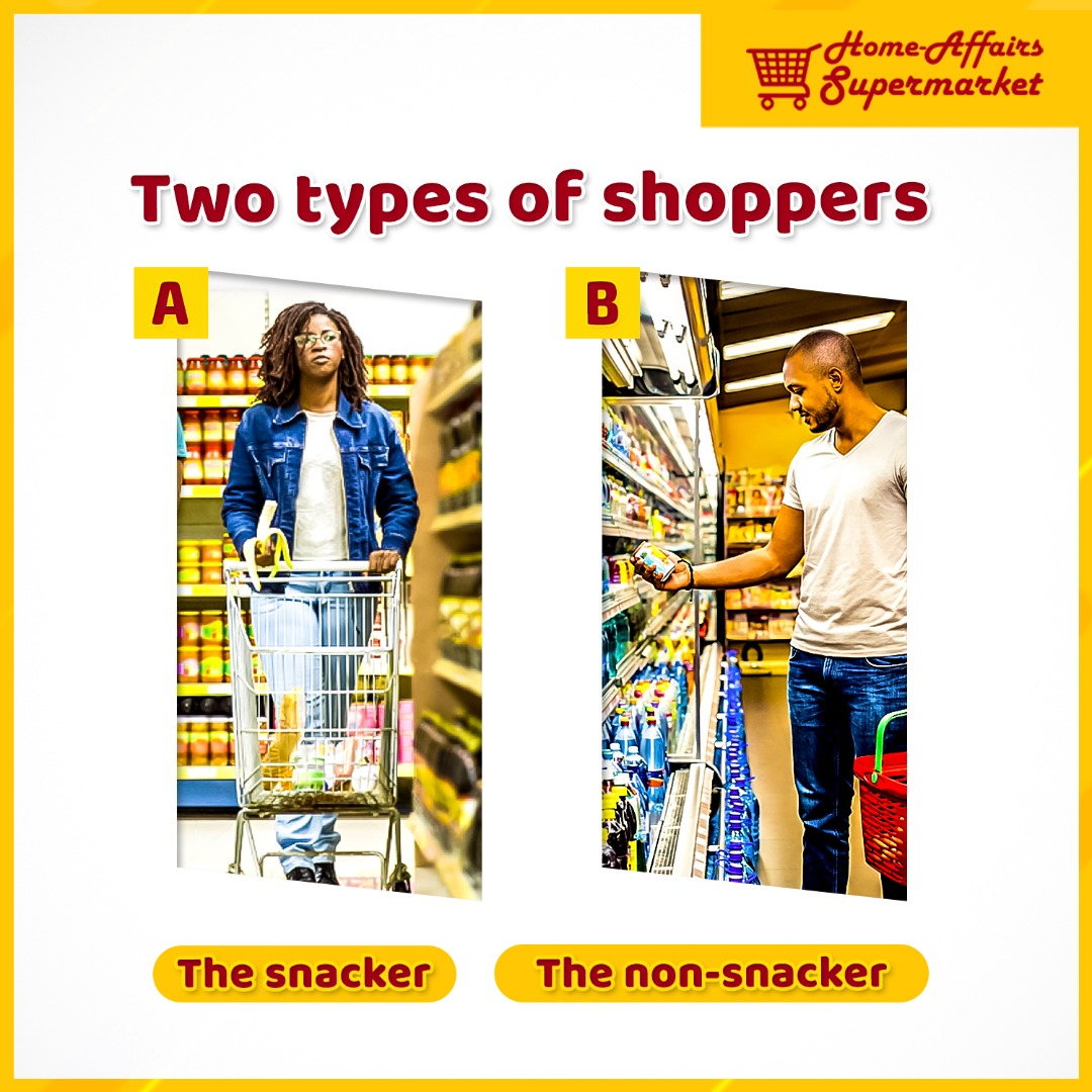 Are you a type A or B shopper? Can you go shopping without munching on a snack?... Let us know in the comment session#homeaffairssupermarket #shopping #ogudu #gbagad #groceries #giftitems #dailyneeds #shoppingtips #supplies #snacks #fruits #giftitems #bestpricesintown pic.twitter.com/hSLDSntLRc