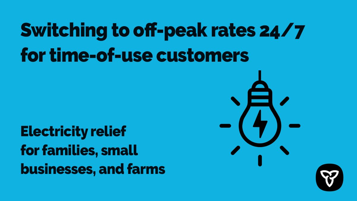test Twitter Media - Ontario is providing electricity relief by holding time-of-use rates at off-peak prices 24/7 for 45 days. Learn more: https://t.co/Hjb4wmq0Bz #COVID19ON #COVID2019 #CANADACOVID19 @OntEnergyBoard, @EDA_ONT @ONgov https://t.co/L9Wd6uqnMu