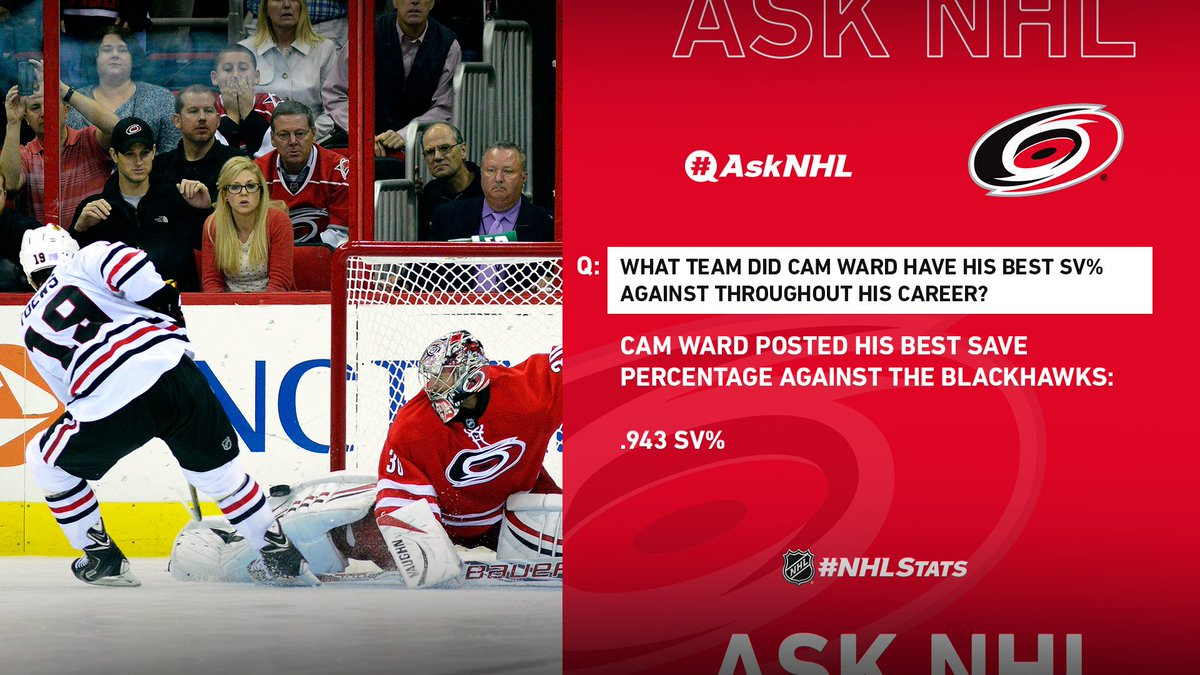 Cam Ward seemed to rise to the occasion against the Blackhawks. #AskNHL twitter.com/Bass8151/statu…