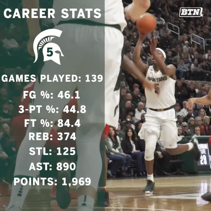 No. 5's career numbers are...🤯 Nobody did it quite like Cash. @cassiuswinston x @MSU_Basketball