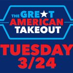 Image for the Tweet beginning: Today, March 24, is #TheGreatAmericanTakeout