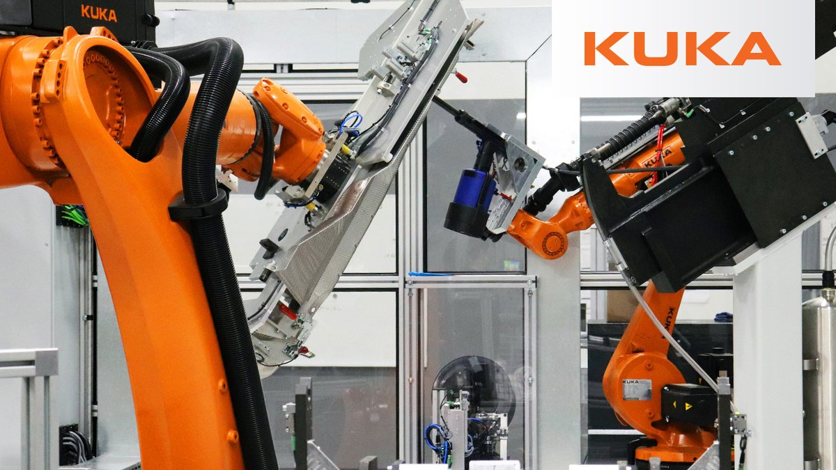 Thanks to the #flexibility of our KUKA #programming language, HAHN Automation was able to coordinate the motions of a KR QUANTEC and KR CYBERTECH #robot to work together to #rivet & punch parts that meet customer cycle time and quality requirements. >> https://youtu.be/0eTIIqut5-E pic.twitter.com/edmIrO9Y6I