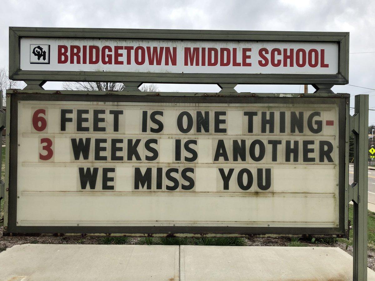 I miss my folks. #OHBMSBest. #OHBetterTogether @BridgetownMS @OHLSD