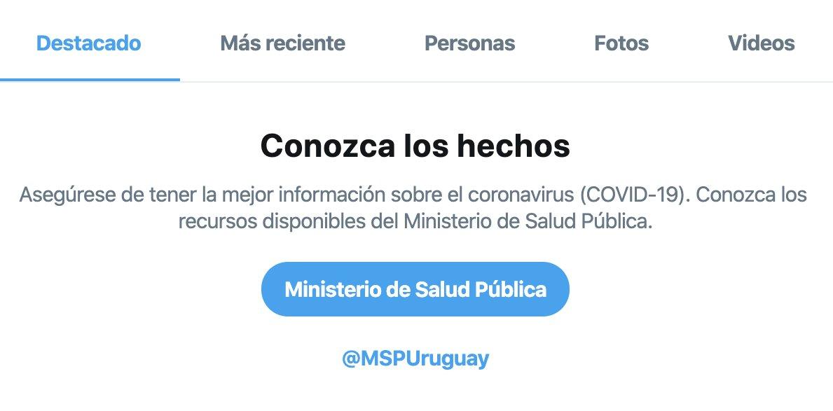 Ya están activados los avisos localizados de búsqueda relacionados a COVID-19 en Uruguay. Gracias al  @MSPUruguay por su colaboración.