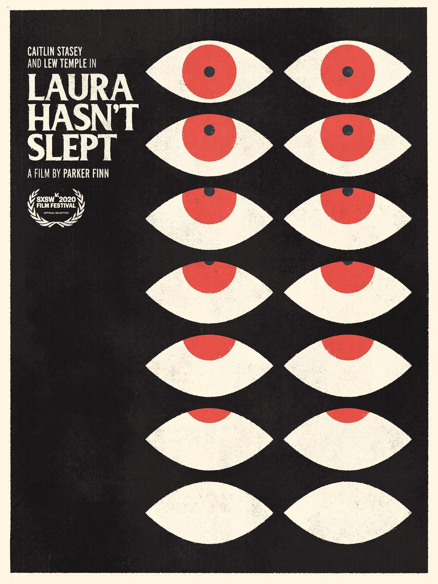 The #SXSW Excellence in Poster Design Jury Award goes to Laura Hasn't Slept designed by Olivier Courbet.