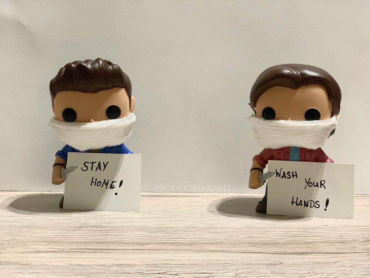 Sam and Dean want you to stay home! ❤️ @jarpad @JensenAckles  #StayAtHomeSaveLives https://t.co/9R3oqVtntz
