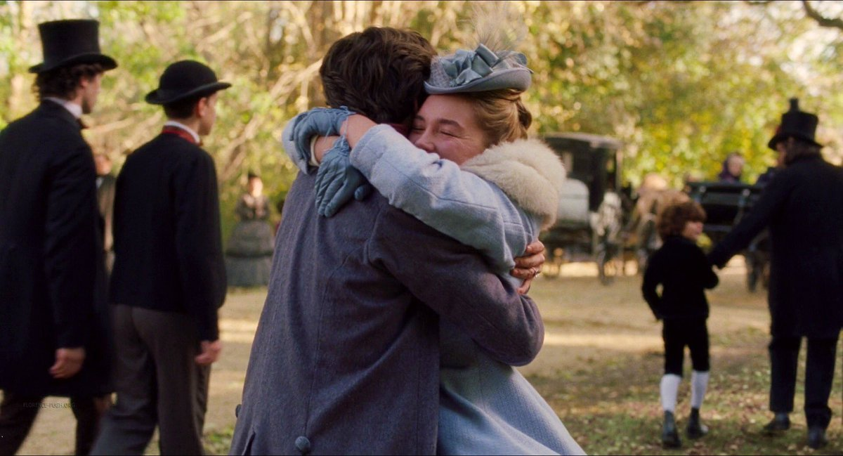 Florence Pugh as Amy and Timothée Chalamet as Laurie in 'Little Women'pic.twitter.com/A9PhjJZw2a
