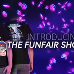 Image for the Tweet beginning: Introducing: The FunFair Shop!  Featuring branded