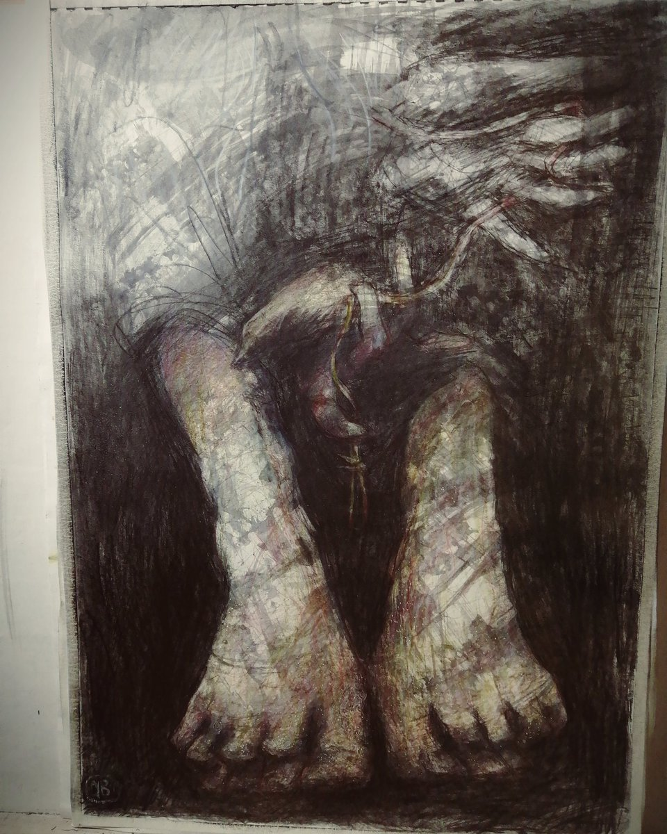 Moving. Kinda . . . #wip #drawing #originalartwork #pencilart #graphite #darkart #surreal #realism #feet #hands #illustration #contemporaryart #bbbar #アート pic.twitter.com/grWQcCRzU7
