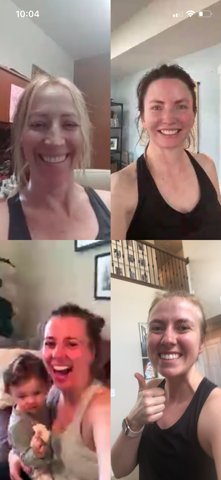 Morning Skype High Fitness with my sisters. Was good to start my day with some cardio #missingone #highfitness pic.twitter.com/4tPfCPUEpE
