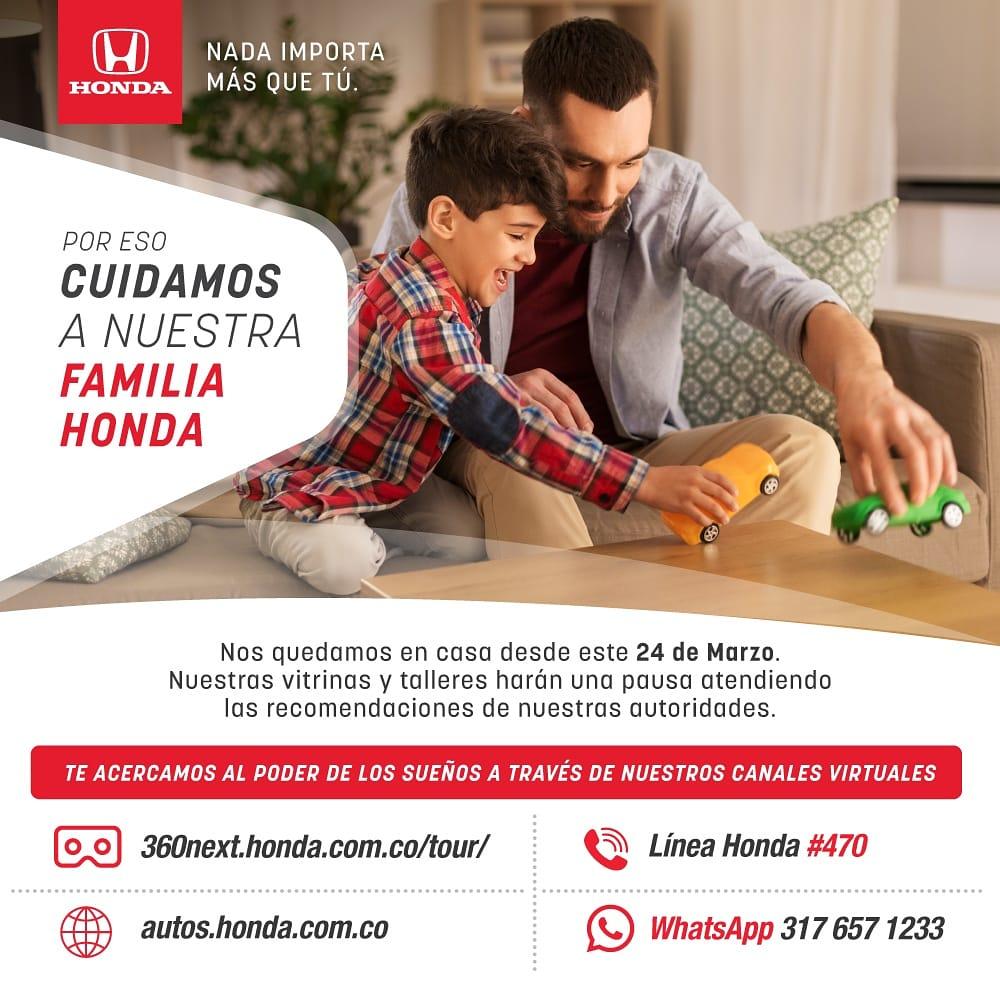 Nada importa más que tú, por eso en Honda nos quedamos en casa y queremos que sigas viviendo el poder de los sueños desde todas nuestras plataformas digitales. #YoMeQuedoEnCasa https://t.co/kW5cnOOpPh