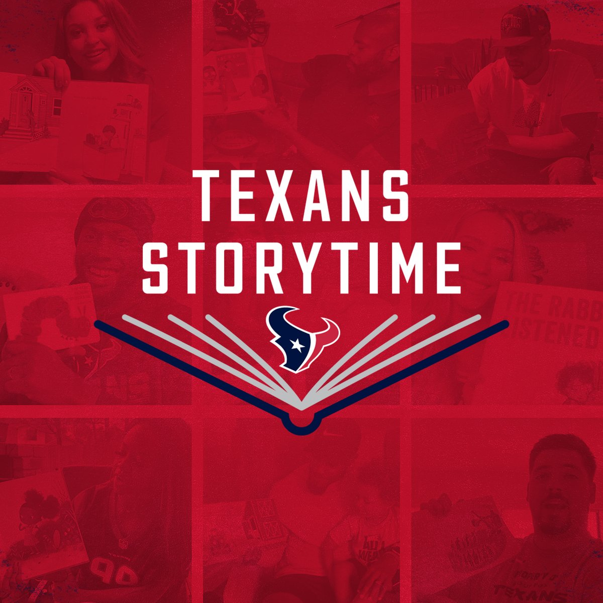 #Texans players, @TexansCheer, and Ambassadors read their favorite childrens books. 📚 » tex.nz/storytime