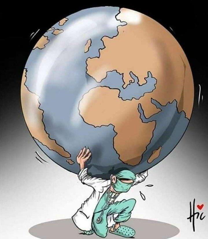 Respect to all doctors around the World🙏🏻💖  #CoronavirusLockdown https://t.co/aUckh2VAR2