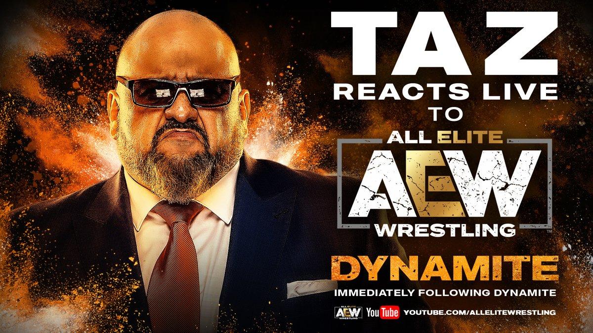 AEW Announces Taz Will Live Recap Tomorrow's Dynamite Episode