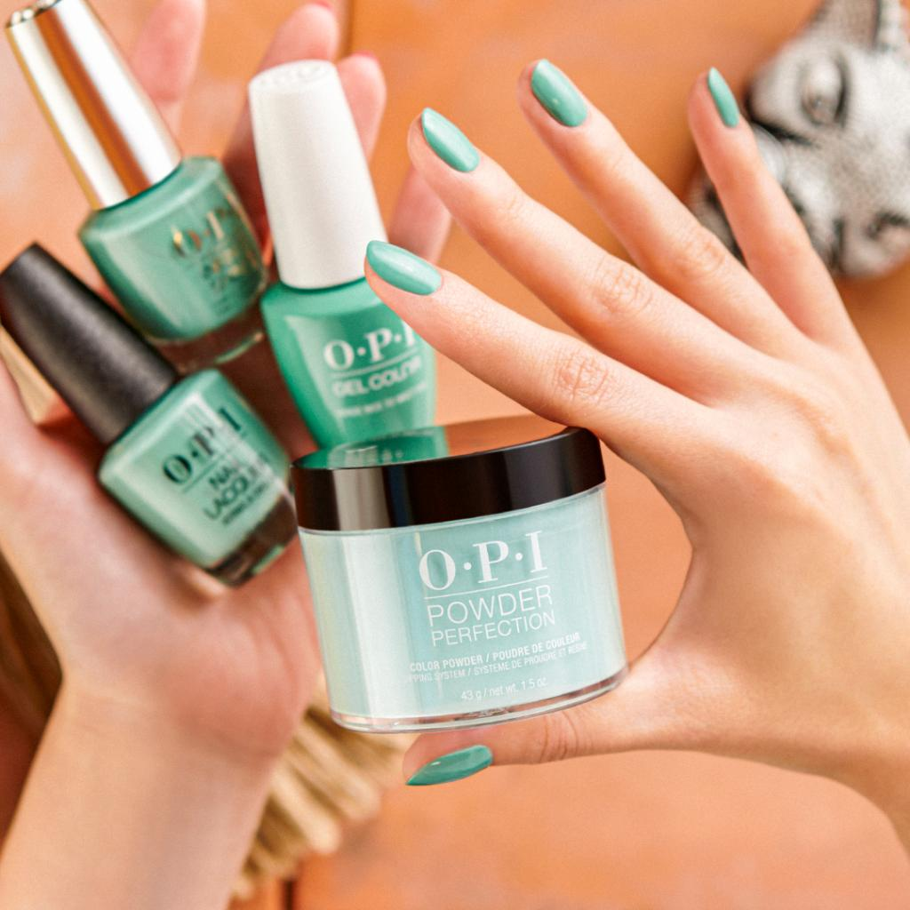 #VerdeNiceToMeetYou will bring you closer to nature, give you more energy and a feeling of renewal this spring. Book a mani appointment to pick from the four color systems #OPINailLacquer #OPIInfiniteShine #OPIGelColor and #OPIPowderPerfection   https://bit.ly/2QwpuX1pic.twitter.com/4YygqBF59L