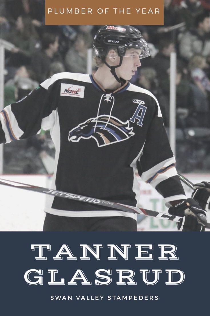 Plumber of the Year Award - Tanner Glasrud #AwardsNight pic.twitter.com/urjB6deoEZ
