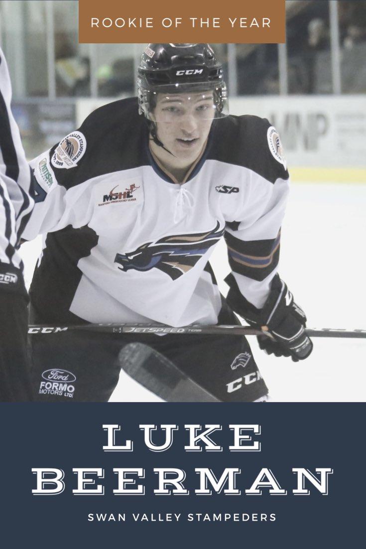 Rookie of the Year & Top Scorer - @LukeBeerman #AwardsNight pic.twitter.com/L4NZwh0g2Q