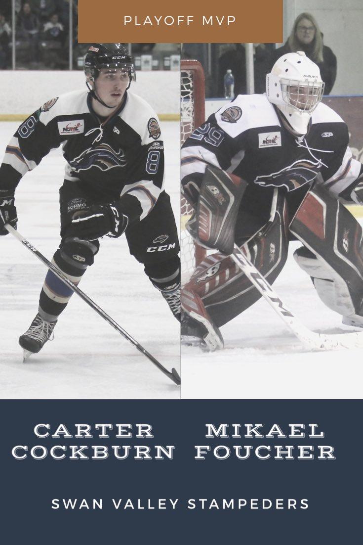 Playoff MVP - @CarterCockburn & @Mikael_Foucher #AwardsNight pic.twitter.com/8bSgSxPl3q