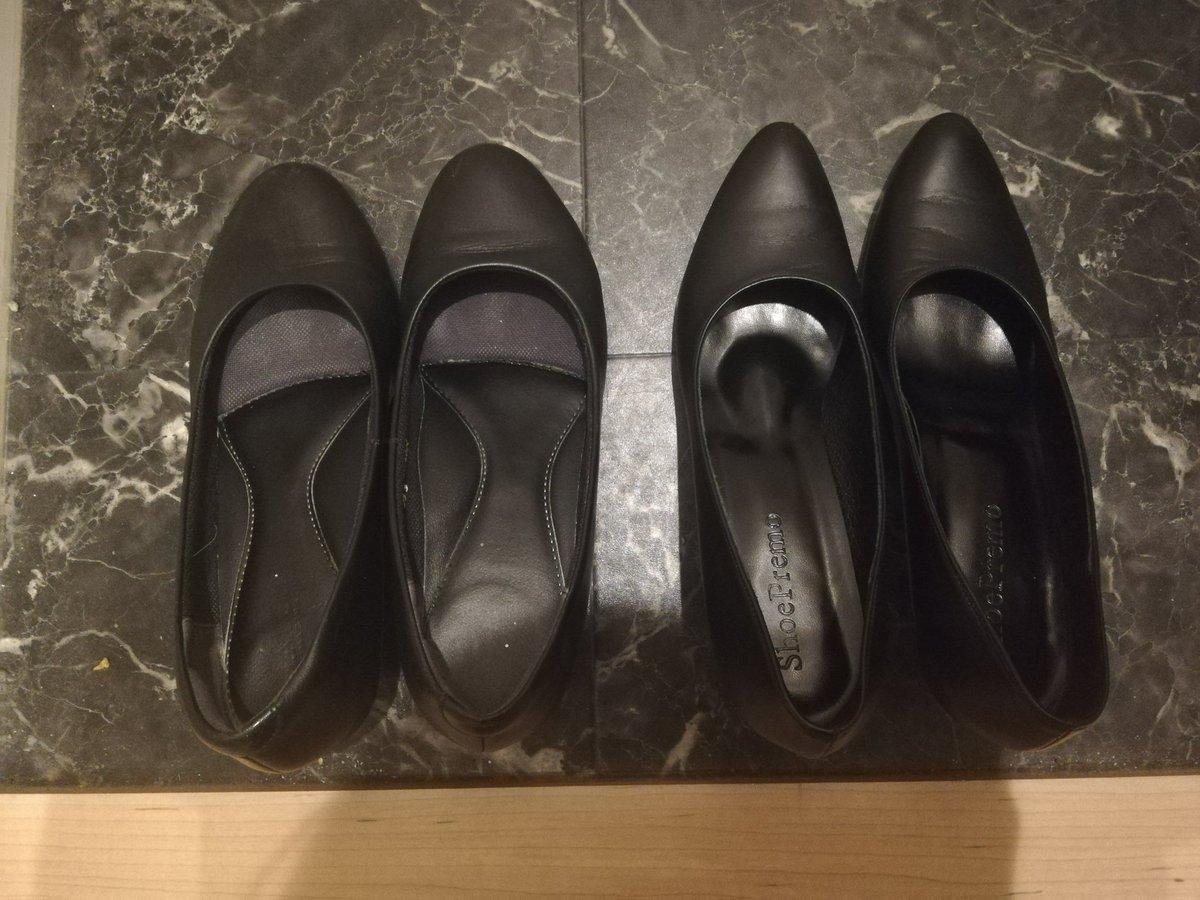 フィッティングマニア活動① パンプスのワイズ(横幅)が大幅に変わりました。踵が脱げる感覚、前滑りする感覚がなくなり、快適に歩ける様になりました  左23.0(4E)→右23.0(3A)  #ShoePremo #ワイズ3A #オーダーシューズ pic.twitter.com/kATIgoj59q